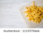 from above  tasty french fries. ...   Shutterstock . vector #1115570666