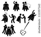 superhero hero rescue help... | Shutterstock .eps vector #111557162