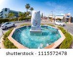 ayia napa  cyprus   april 07 ... | Shutterstock . vector #1115572478
