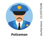 policeman icon vector isolated... | Shutterstock .eps vector #1115574248
