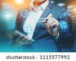 quality assurance service...   Shutterstock . vector #1115577992