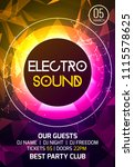 electro sound party music... | Shutterstock .eps vector #1115578625