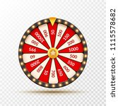 wheel of fortune lottery luck... | Shutterstock .eps vector #1115578682