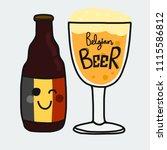 belgian beer cartoon vector...   Shutterstock .eps vector #1115586812