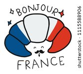 bonjour  mean good morning in...   Shutterstock .eps vector #1115588906