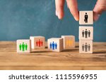 organization and team structure ...   Shutterstock . vector #1115596955