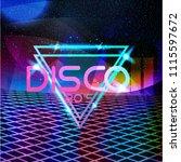 retro style 80s disco design... | Shutterstock .eps vector #1115597672