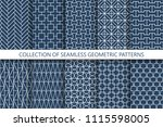 collection geometric seamless... | Shutterstock .eps vector #1115598005