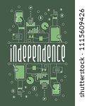 independence  vector beautiful... | Shutterstock .eps vector #1115609426