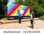 june 18  2018 menlo park   ca   ... | Shutterstock . vector #1115616326