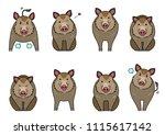 cute boars elements set   Shutterstock .eps vector #1115617142