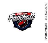 vector american football logos... | Shutterstock .eps vector #1115630078