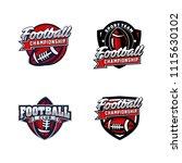 vector american football logos... | Shutterstock .eps vector #1115630102