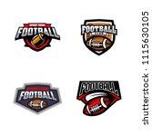 vector american football logos... | Shutterstock .eps vector #1115630105
