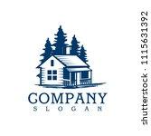 cabin log in logo template | Shutterstock .eps vector #1115631392