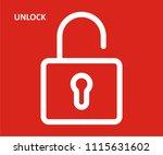unlock vector icon  | Shutterstock .eps vector #1115631602