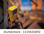 using gas test detector... | Shutterstock . vector #1115631842