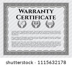 grey formal warranty... | Shutterstock .eps vector #1115632178