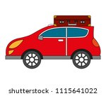 automobile with suitcase on... | Shutterstock .eps vector #1115641022