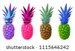 pineapple collection  set of... | Shutterstock .eps vector #1115646242
