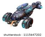 sci fi aircraft  the shrimp... | Shutterstock . vector #1115647202
