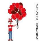 man in celebration canadian... | Shutterstock .eps vector #1115648342