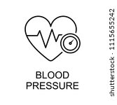 blood pressure line icon.... | Shutterstock .eps vector #1115655242