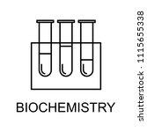 biochemistry line icon. element ...   Shutterstock .eps vector #1115655338