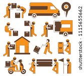 delivery service man  shipping... | Shutterstock .eps vector #1115655662