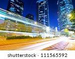 traffic in urban at night   Shutterstock . vector #111565592