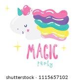 cute little unicorn logotype   Shutterstock .eps vector #1115657102
