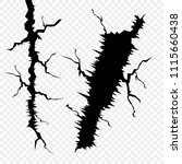 vector set of cracks in the... | Shutterstock .eps vector #1115660438