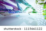 abstract white and colored... | Shutterstock . vector #1115661122