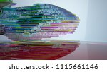 abstract white and colored... | Shutterstock . vector #1115661146