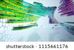 abstract white and colored... | Shutterstock . vector #1115661176