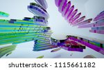 abstract white and colored... | Shutterstock . vector #1115661182