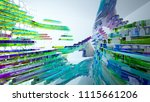 abstract white and colored... | Shutterstock . vector #1115661206