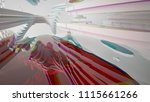 abstract white and colored... | Shutterstock . vector #1115661266