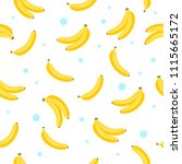 banana seamless pattern... | Shutterstock .eps vector #1115665172