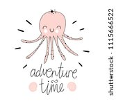 """adventure time"". vector...   Shutterstock .eps vector #1115666522"
