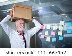 worried senior business man has ...   Shutterstock . vector #1115667152