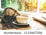 relax time with coffee and... | Shutterstock . vector #1115667206