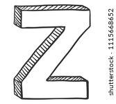 vector doodle sketch... | Shutterstock .eps vector #1115668652