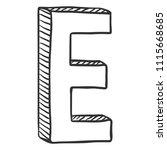 vector doodle sketch... | Shutterstock .eps vector #1115668685