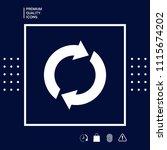 reset button  reload arrows   Shutterstock .eps vector #1115674202