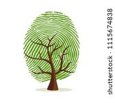 fingerprint tree. green human... | Shutterstock .eps vector #1115674838