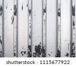profiled metal sheet background.... | Shutterstock . vector #1115677922