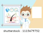 doctor and body odor problem on ... | Shutterstock .eps vector #1115679752