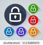 illustration of padlock circle...   Shutterstock .eps vector #1115680652