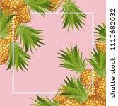 fresh pineapple fruit tropical... | Shutterstock .eps vector #1115682032